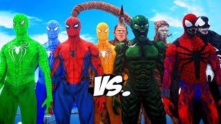 SPIDER-MAN, GREEN SPIDERMAN, BLUE SPIDERMAN, ORANGE SPIDERMAN VS SPIDER-MAN ENEMIES