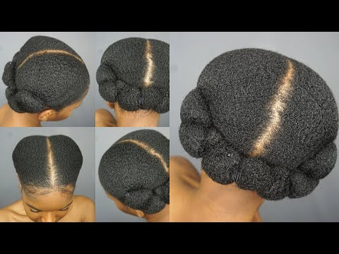 sleek-low-banded-ponytails-|-easy-and-quick-natural-hairstyles-|-thick-4c-hair|-limitless-bloom