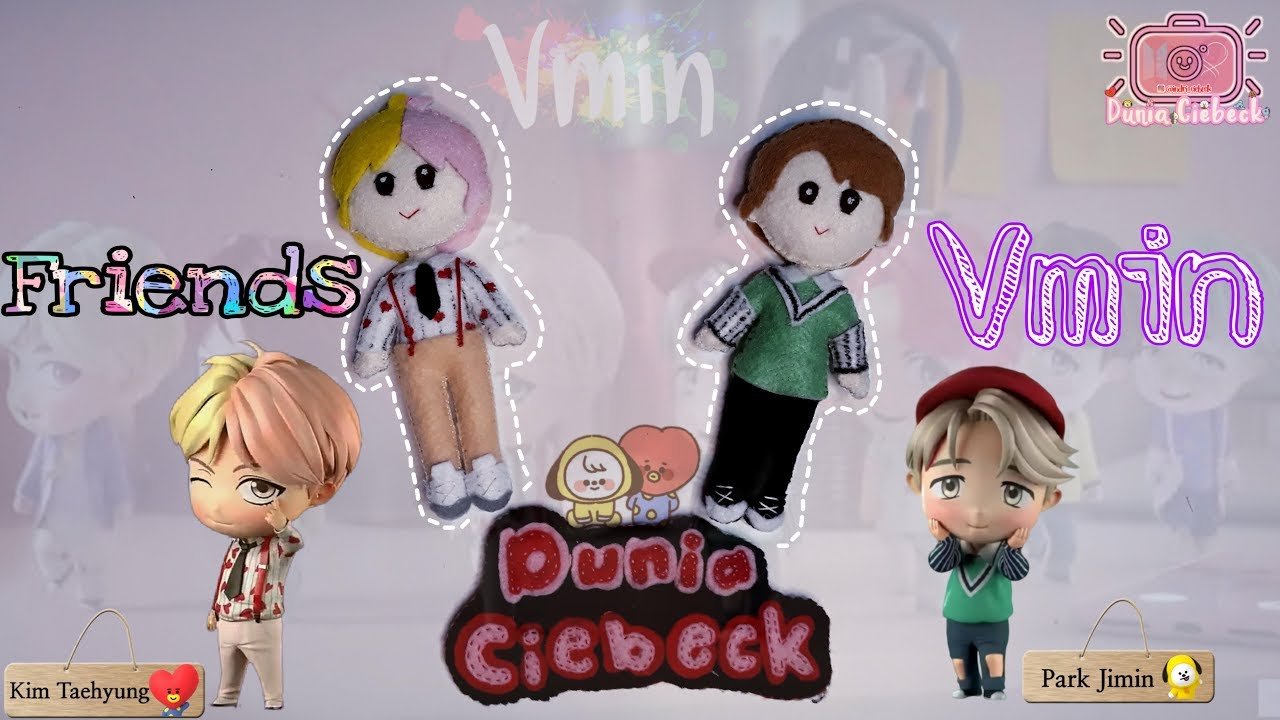 Army Diy Vmin Bts Doll Cara Membuat Boneka Bts V Jimin Idol Youtube