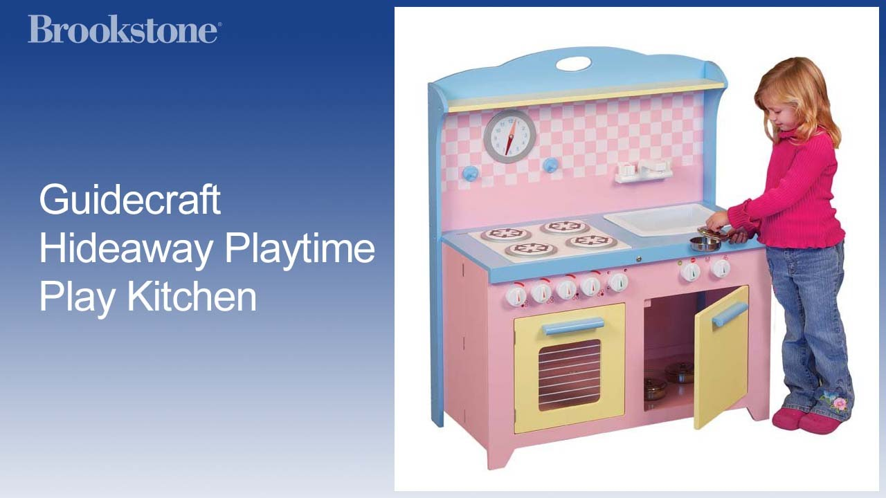 Guidecraft Hideaway Playtime Play Kitchen - YouTube