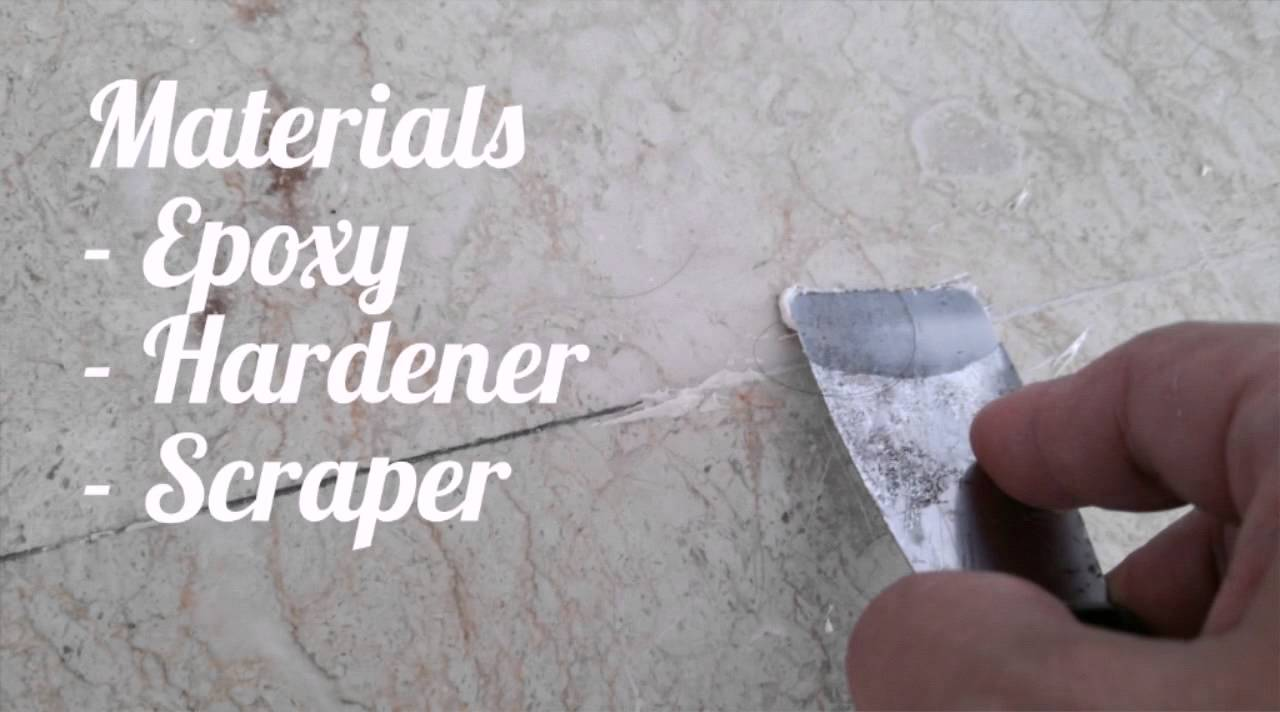 How To Fill In Gaps Between Marble Floor Tiles With Epoxy