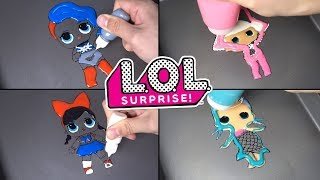 LOL Surprise! Dolls Pancake Art - FANIME, CHEEKY BABE, DIVA, SPICE ,SUGAR , Merbaby #2