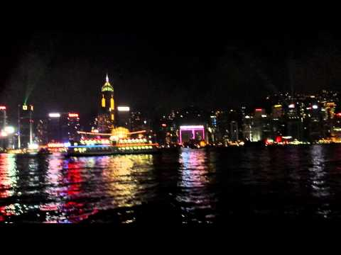 Hong Kong Symphony of Lights from Kowloon Side - Sept 9, 2014