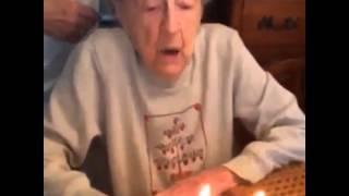 Grandma blowing her dentures out Vine | Best Of Vine Video