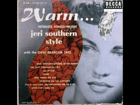 Jeri Southern with the Dave Barbour Trio – All In Fun, 1954