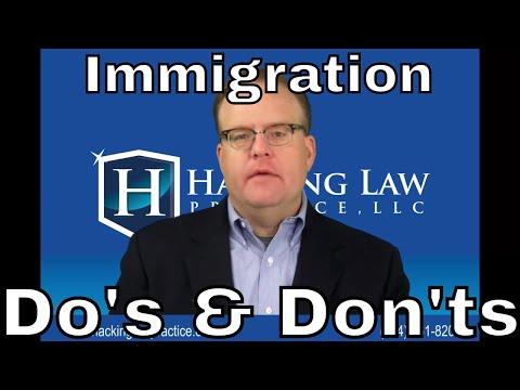 St. Louis Fiance Visa Attorney Jim Hacking Provides a List of Do's & Don'ts