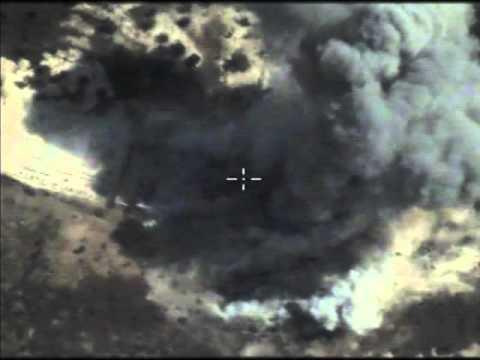 Нанесение 3 последовательных авиаударов по складу боеприпасов и ПУ боевиков в р-не МААРЕТ-ЭН-НУУМАН