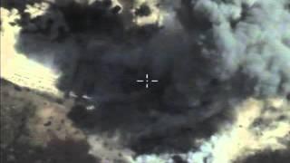 """بالفيديو: الطيران الروسي يدمر مخازناً للسلاح وأوكاراً تابعة لإرهابيي """"داعش"""""""
