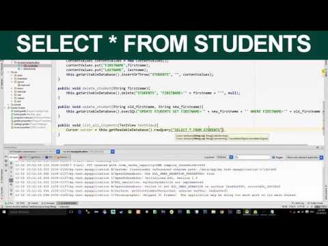 SQLite Operations: Android studio- Create, Insert,Update,Delete