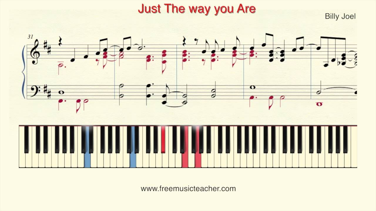 How To Play Piano Billy Joel Just The Way You Are Piano Tutorial