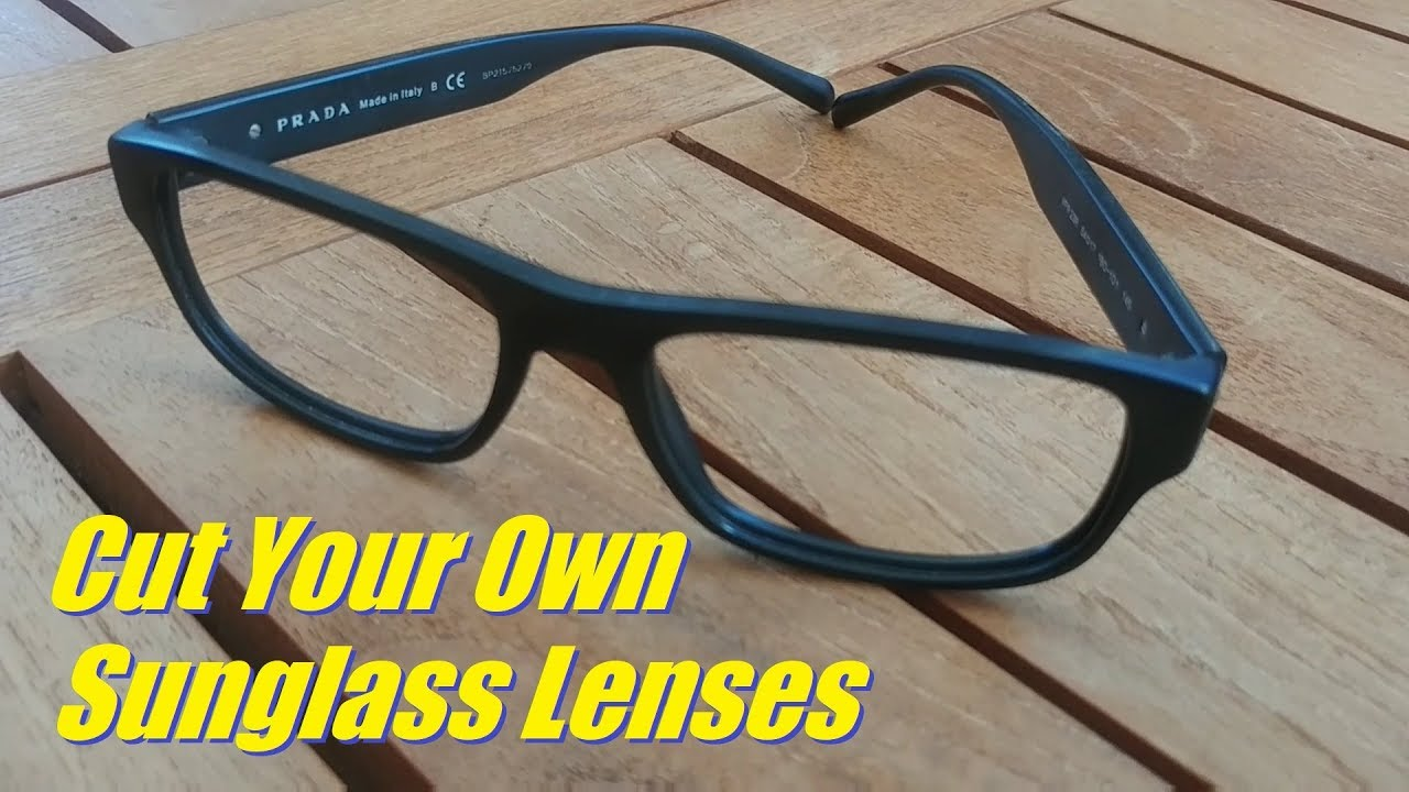 c0143a80d15 How To Cut Lenses to Fit Your Frames - YouTube