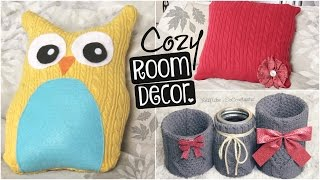 (0.16 MB) DIY COZY ROOM DECOR for Fall, Winter, Christmas, & Holidays // Upcycle Old Sweaters | SoCraftastic Mp3
