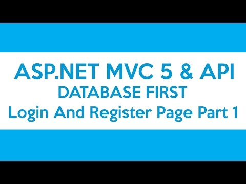 ASP.NET MVC & API Database First - Login And Register Page Part 1
