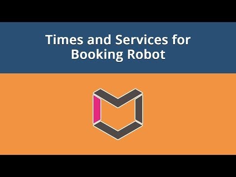 Booking Robot For Joomla, #3: Times And Services