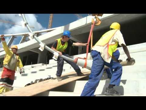 Dachtragwerk / roof structure Cape Town Stadion, Kapstadt, Südafrika / South Africa