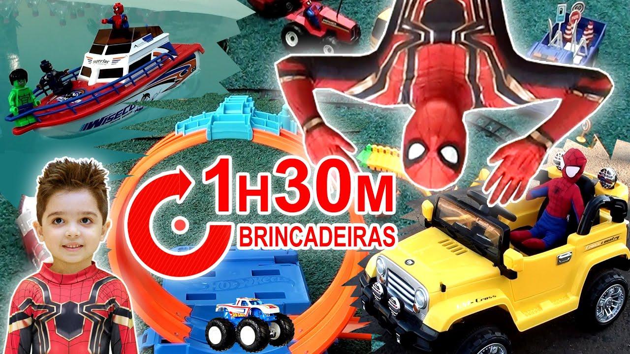 1 HORA E 30 MINUTOS de BRINCADEIRAS DIVERSÃO Play and Fun for Kids Spiderman