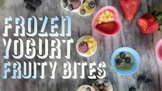 How To Make Frozen Yogurt Fruit Bites | Get The Dish