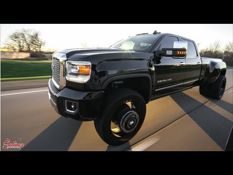 2015 GMC SIERRA 3500 DUALLY ON 26 INCH AMERICAN FORCE WHEELS! SMOOTH RIDE!