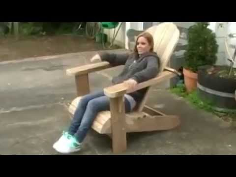 Садовая мебель из дерева. Кресло своими руками