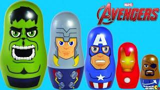 Marvel The Avengers Stacking Cups Disney Marvel Nesting Toys Surprise Hulk, Iron Man, Nick Fury