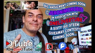 @onelovedtube and @jeronimorubio Giveaway Contest coming up in the Next couple of Days   60 #steem u