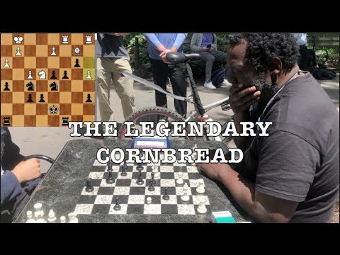 Playing Cornbread - Street Chess Legend! NYC Chess Hustling at Washington Square Park