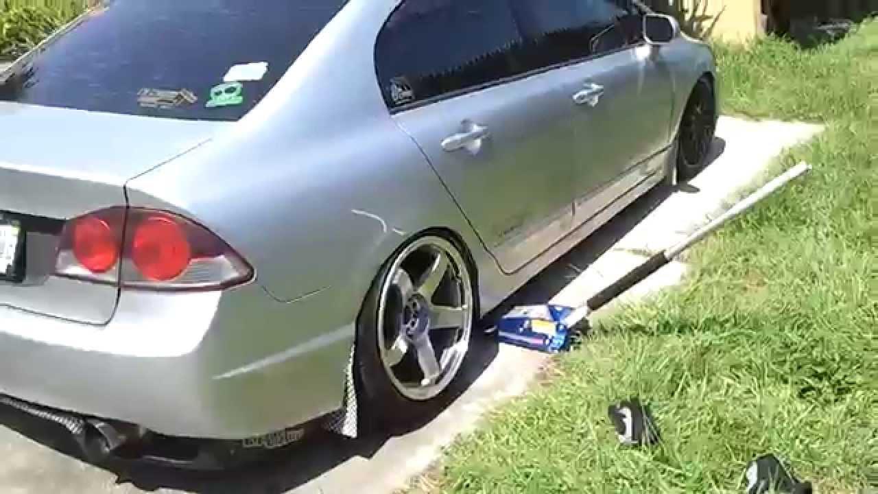 Test Fitting 18x9 5 20 Civic Fa5 Fd2 Conversion Youtube