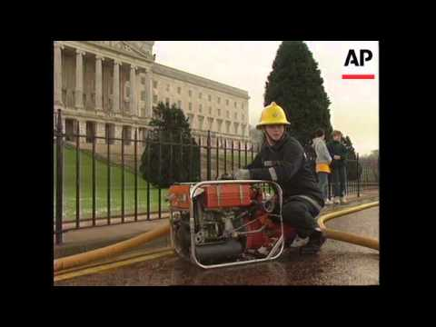 UK: NORTHERN IRELAND: STORMONT CASTLE FIRE