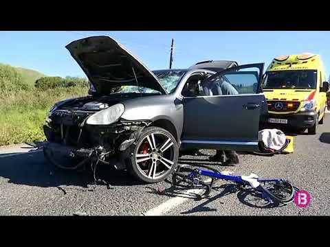Un vehicle atropella un grup de ciclistes a Capdepera i en deixa 9 ferits, un d'ells crític