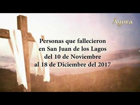 Obituarios del 10 de Noviembre al 18 de Diciembre del 2017