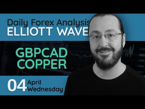 Daily Forex Analysis with Elliott Wave (04.04.2018) -  GBPCAD, COPPER