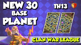 Best Top 30 TH13 Anti Zap & Anti 3 Start Bases + With Link For The Clan War League Month Of July COC