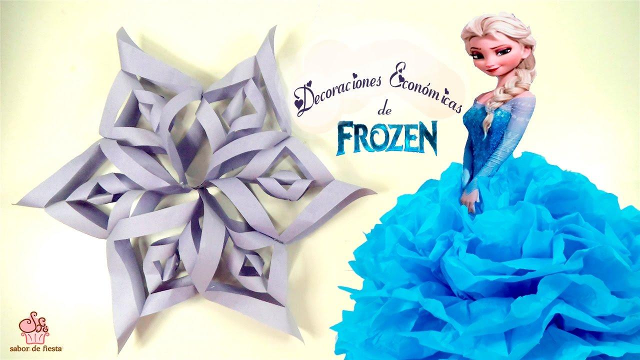 Copos De Nieve Para Decorar Fiesta Frozen.Copo De Nieve Frozen Muy Facil Sabor De Fiesta