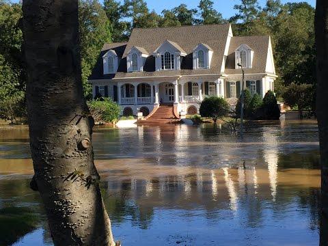 Hurricane Matthew Flooding in Rocky Mount, NC neighborhood