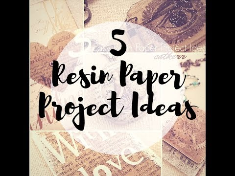 5 Project Ideas you can make with Resin Paper