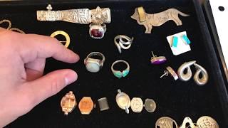Estate Sale / Garage Sale Finds Haul #38 - 10k & 14k Gold Jewelry Score, Sterling Silver
