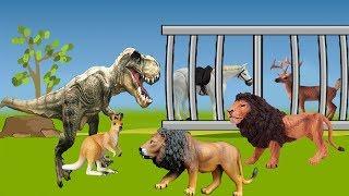 حواديت أطفال - حدوتة الديناصور الشجاع والبوابة السحرية
