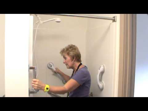 Bathroom Grab Bar Installation Height grab bar placement for shower - youtube