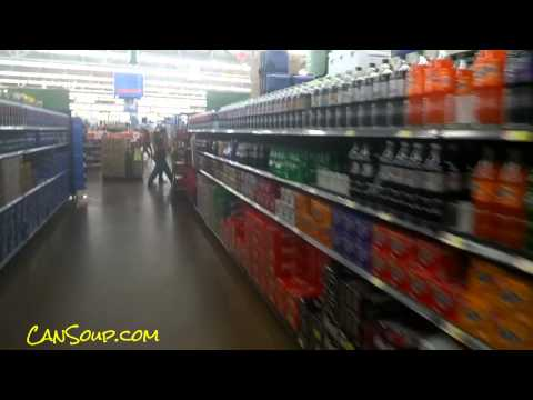 Cola Soft Drinks Soda Aisle in America Grocery Store Pop Soft Drink