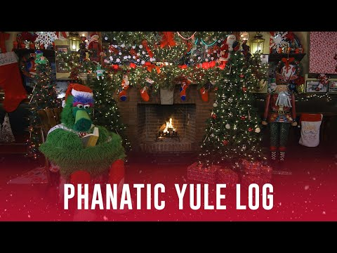 Cole - 4 Hour Holiday Yule Log With The Phillie Phanatic