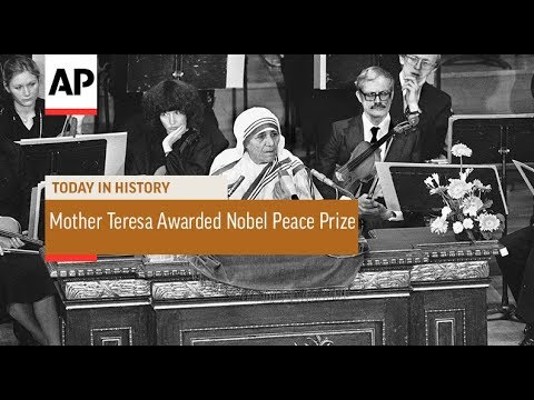 Mother Teresa Awarded Nobel Peace Prize - 1979 | Today In History | 17 Oct 17