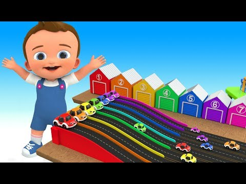 Learn Colors for Children with Baby Play Cartoon Cars Gifts Toy Set 3D Kids Toddlers Educational