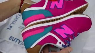 415d98228549 Unboxing Womens New Balance 574 Pink   White - www.butyjana.pl