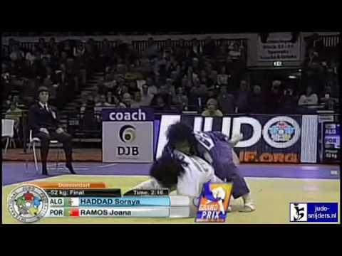 Judo 2010 Grand Prix Dusseldorf: Soraya Haddad (ALG) - Joana Ramos (POR) [-52kg] final
