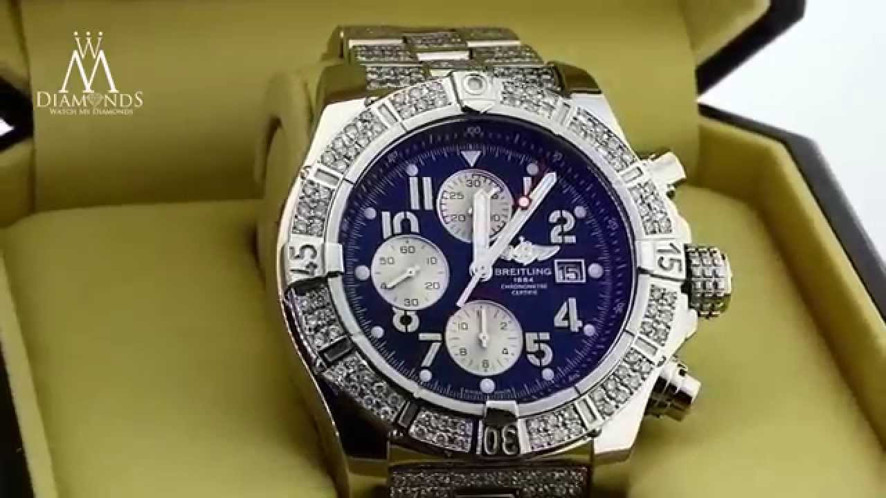 Breitling super avenger black diamond watch