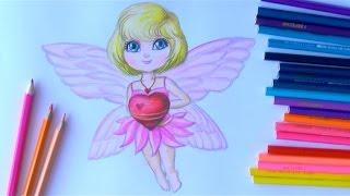 Уроки рисования. Рисунок ко Дню Святого Валентина. Как нарисовать ангелочка(В этом уроке вы узнаете, как нарисовать ангела карандашами.Скоро намечается День Святого Валентина или..., 2015-02-05T06:54:54.000Z)