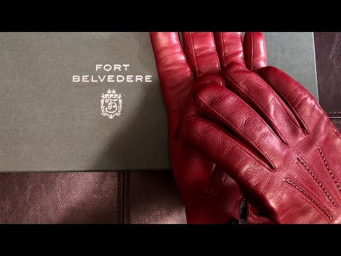 Fort Belvedere Burgundy Mens Dress Gloves Unboxing & Overview