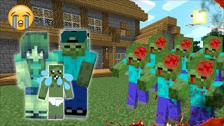 ZOMBIE FAMILY PROTECT THEMSELVES AGAINST A ZOMBIE APOCALYPSE IN MINECRAFT !! Minecraft Mods