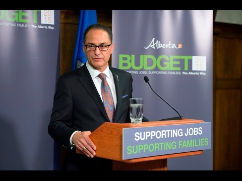 Budget News Conference - Alberta Government - Oct 27, 2015