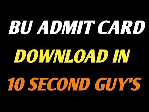 How To Download Bu Admit Card/Bu JhansiAdmit Card 2021/bu Jhansi/bu Jhansi Exam Date 2021/bu News